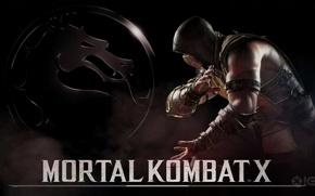 Картинка Скорпион, Scorpion, Mortal Kombat X, Мортал Комбат 10