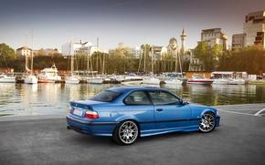 Картинка car, авто, бмв, яхты, набережная, bmw m3, E36, auto wallpaper