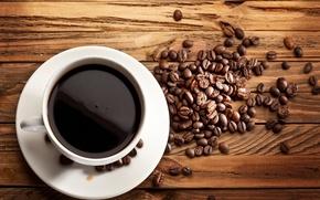 Картинка доски, кофе, кофейные зерна