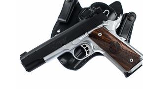 Картинка пистолет, кобура, custom, M1911, Dominator, nighthawk