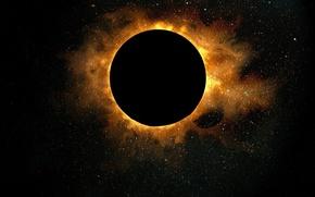 Обои солнце, рисунок, Затмение, 158