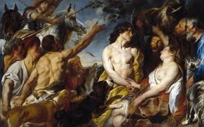 Обои картина, Якоб Йорданс, мифология, Мелеагр и Аталанта