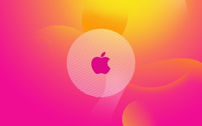 Обои цвета, apple, градиент, логотип, logo, Hi-Tech