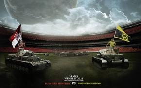 Картинка Grass, Leopard, Stadium, Tank, Wembley, Borussia Dortmund, 2013, UEFA Champions League, FC Bayern, Schweinsteiger, Final, …