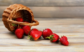 Картинка ягоды, клубника, корзинка, strawberry, fresh berries