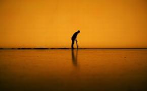 Картинка линии, тень, мужчина, скейтборд