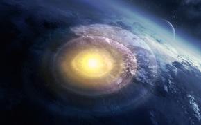 Картинка взрыв, планета, арт, катаклизм