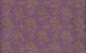 Обои pattern, vintage, floral, фон, texture, paper, орнамент, wallpaper, цветочный