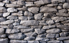 Картинка wall, pattern, stones, gray