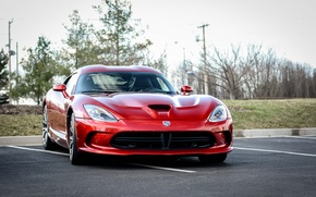 Картинка Dodge, red, Viper, '2012