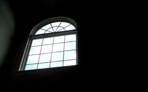 Картинка окно, черное
