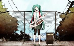 Картинка девушка, галстук, vocaloid, Hatsune Miku, длинные волосы
