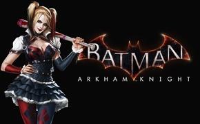Обои Девушка, Взгляд, Бита, Харли Квинн, Harley Quinn, Warner Bros. Interactive Entertainment, Rocksteady Studios, Бэтмен: Рыцарь ...