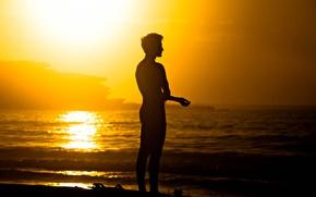 Обои ocean, waves, sea, surfer, serenity, surfboard, man, sunny, seaside, summer, surf, peaceful, beach, silhouette, extreme ...