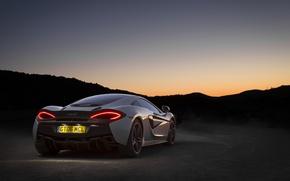 Картинка авто, обои, McLaren, wallpaper, суперкар, supercar, auto, задок, 570GT, стоп-сигнал