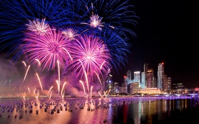 Картинка салют, Сингапур, фейерверк, New Year, Singapore, Fireworks