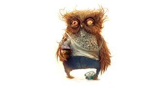 Картинка сова, - Здравствуй доброе утро