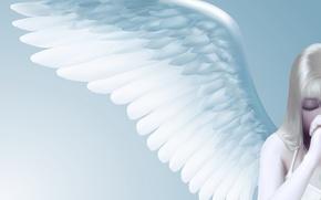 Обои минимализм, вектор, ангел