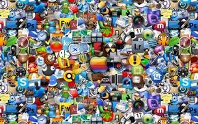 Картинка лого, много, значки, всё, все, логотипы