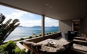 Картинка ocean, view, terrace, suite, Dominique, Debay Hotel