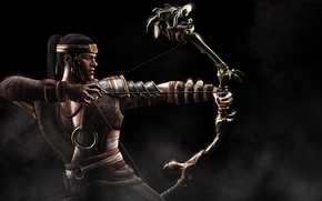Картинка лук, Mortal Kombat X, Смертельная битва 10, Кун Цзинь, Kung Jin