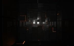 Картинка квадраты, блестящие, Tron legacy