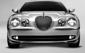 Обои Jaguar, silver, S-Type