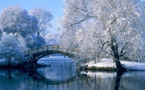 Обои мост, германия, зима