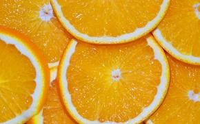 Картинка макро, оранжевый, яркий, апельсин, сок, ломтики, дольки, сочный