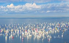 Картинка море, небо, яхта, Италия, парус, Триест, регата Барколана