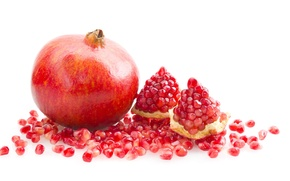 Картинка фрукт, сочно, гранат, ломти