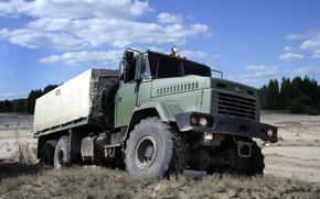Обои грузовик, военные авто, Краз, kraz, внедорожник, вседорожник