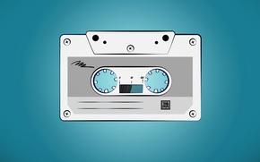 Картинка синий, ретро, музыка, пленка, кассета