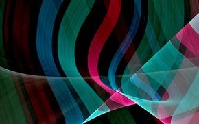 Обои линии, свет, цвет, волны, объем