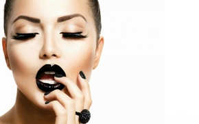 Картинка девушка, ресницы, макияж, кольцо, Анна Субботина