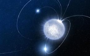 Картинка космос, нейтронная звезда, Магнетар