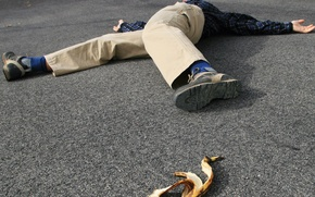 Обои banana, accident, fall