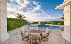 Картинка pool, ocean, home, luxury, bahamas