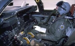 Картинка самолет, приборы, кабина, пилот
