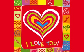 Картинка hearts, сердечки, I love you, любовь, romantic, sweet, colorful, love, background