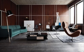 Картинка design, style, retro, living room, interior
