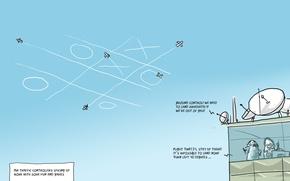 Картинка юмор, Wulffmorgenthaler, самолеты, карикатура, диспетчеры