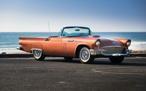 Картинка T-Bird, Supercharged, Thunderbird, море, 1957, форд, Special, классика, Ford