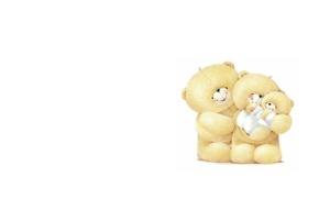 Картинка любовь, настроение, добро, семья, арт, мишка, забота, мама, малышка, папа, детская, Forever Friends Deckchair bear