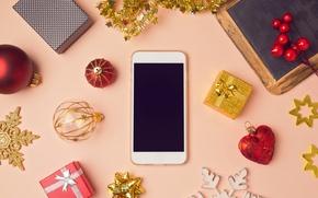 Картинка украшения, шары, Новый Год, Рождество, подарки, Christmas, balls, decoration, Merry