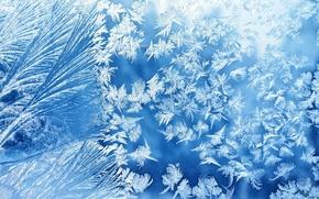 Картинка зима, стекло, узор, мороз