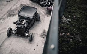 Обои Diesel, Вывеска, Cummins, Двор, Крыша дома, i6 Twin Turbo, 1931, Chevrolet, Rat Rod, Hot Rod