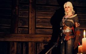 Картинка Ведьмак, Цири, The Witcher 3:Wild Hunt, Candle light