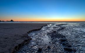 Картинка песок, пляж, океан, Oregon, Indian Beach