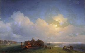 Картинка масло, Холст, 1885, (1817-1900), Иван АЙВАЗОВСКИЙ, Чумаки на отдыхе
